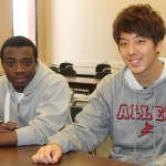 Kwame Boateng and Tom Yamamoto are roommates, classmates and fast friends since arriving at Allen from Africa and Japan, respectively;
