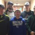 Chase Gooding's family away from home includes, from left, Chase Behler, Jake Butterfield, Mason Gifford, and Jesse Kutzke. Gooding is at the right.