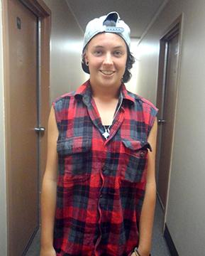 Rachael Little, international student,traveled from Australia to attend Allen.