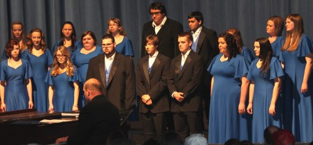 The Allen Concert Choir performs Thursday, May 1, at the Bowlus Fine Arts Center during the Music Department's