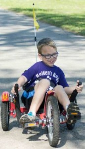 On Saturday, May 3, Allen Community College students participated in a 5k race in Fort Scott. The run was dedicated to eight-year-old Holden Guilfoyle, above, who suffers from the rare genetic disorder called mucopolysaccahridosis, type 6 (MPS VI). The mission of the run was to raise awareness of MPS and to raise funds for Holden
