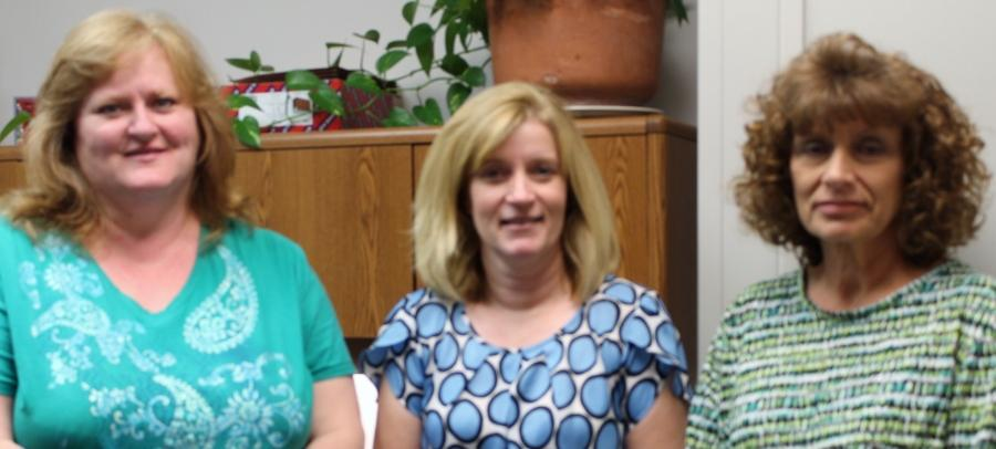 Lynn Heskitt, Roberta Nickell and Patty Latta make up the Business Office at Allen.