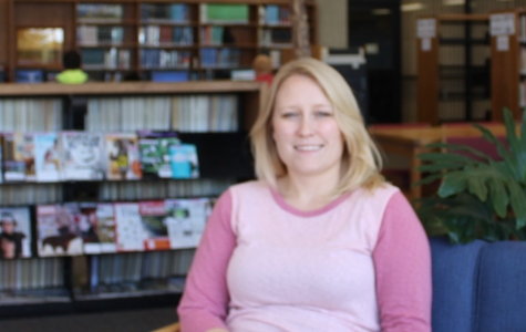 Sandy Moore is in her first year as director of the Allen Library.