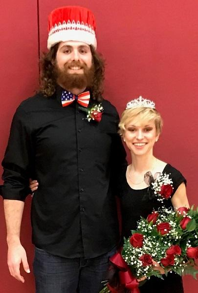 Allen Community College Homecoming Queen and King crowned Wednesday night were Kaitlyn Shoemaker, Topeka, and Jacob Butterfield, Osage City.