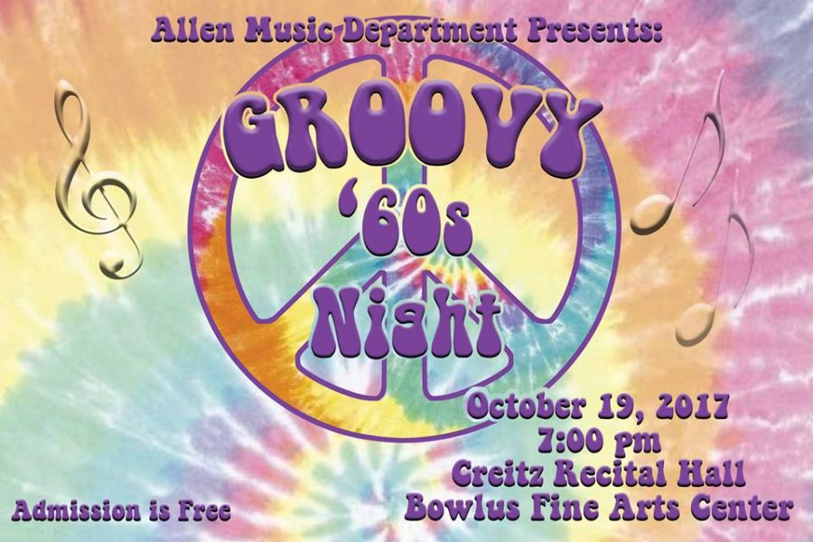 Allen's Music Department Presents 'Groovy 60's Night' at the Bowlus Fine Arts Center Oct. 19 at 7 p.m.