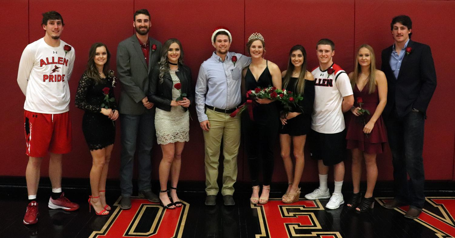 Allen Community College's Homecoming Court pose for a few pictures after the ceremony.