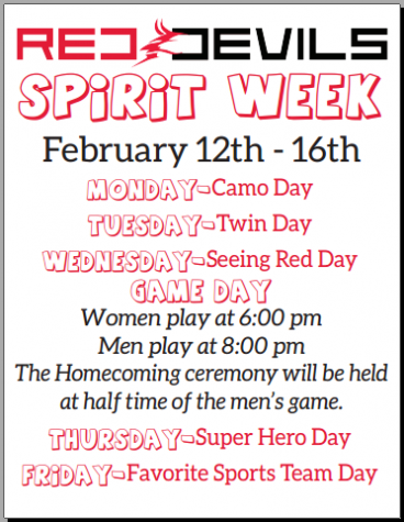 Spirit Week: Feb. 12-16