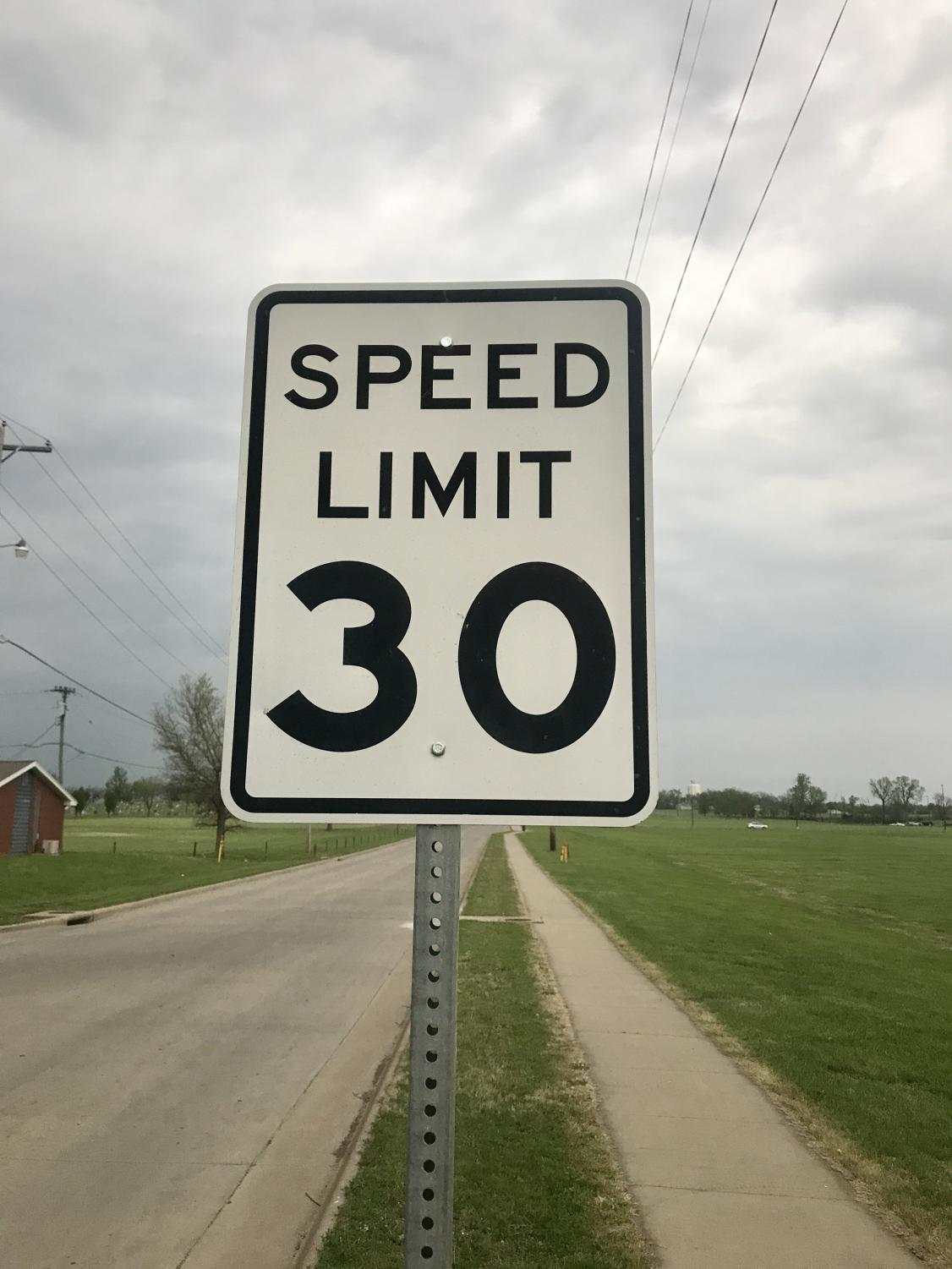 The 30 miles per hour speed limit on Cottonwood is to ensure the safety of golf cart riders so they can legally ride on the road.