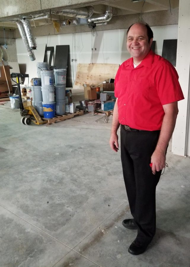 Doug Dunlap gave tours to students and faculty over the summer and got to see the new facility take shape.