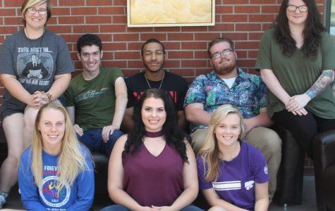 Members of the 2018-2019 Flame Staff are, from left, Molly Henderson, Nikayla Kussatz, Judd Wiltse, Lindsey Temaat, RJay McCoy, Bailey Sprague, Zeth DePriest and Persephone Burleson.