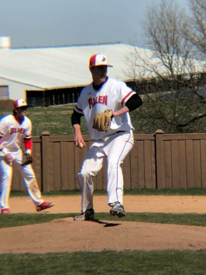 Sophomore+Jake+Pease%2C+of+Indiana%2C+is+a+pitcher+for+the+Red+Devils+Baseball+Team%2C+and+is+glad+he+made+the+journey+to+Alllen.