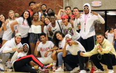 "Photo Galley: Students ""White-Out"" Home Volleyball Game"