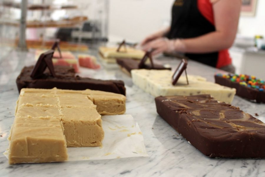 The Bijou Confectionary makes various flavors of fresh homemade fudge daily, attracting residents of Southeast Kansas to their newly opened shop.