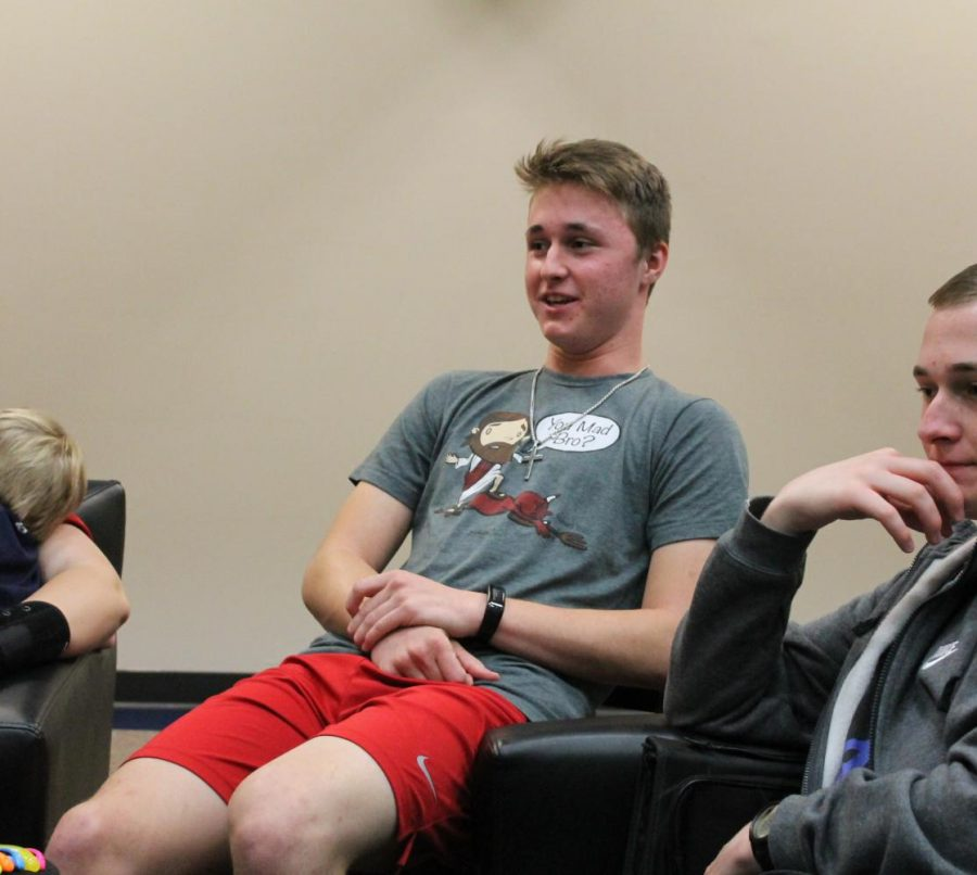 Austin Hendrix is involved in many activities on campus and had a big role in creating a Bible Study at Allen.