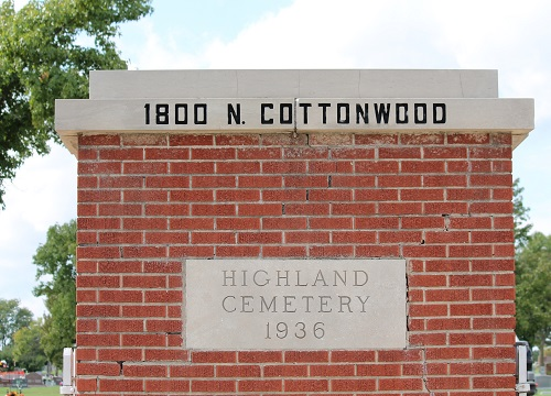 Highland Cemetery, across the road from the college, can be an uncomfortable setting for some.