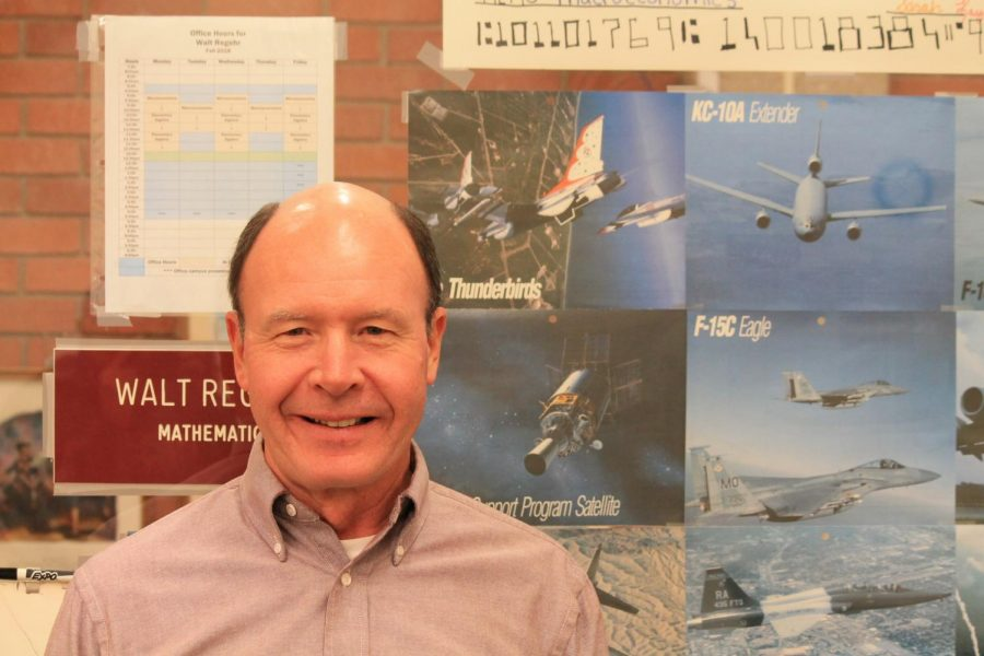 Walt Regehr, economics instructor at Allen, lived in many different states during his time in the US Air Force.