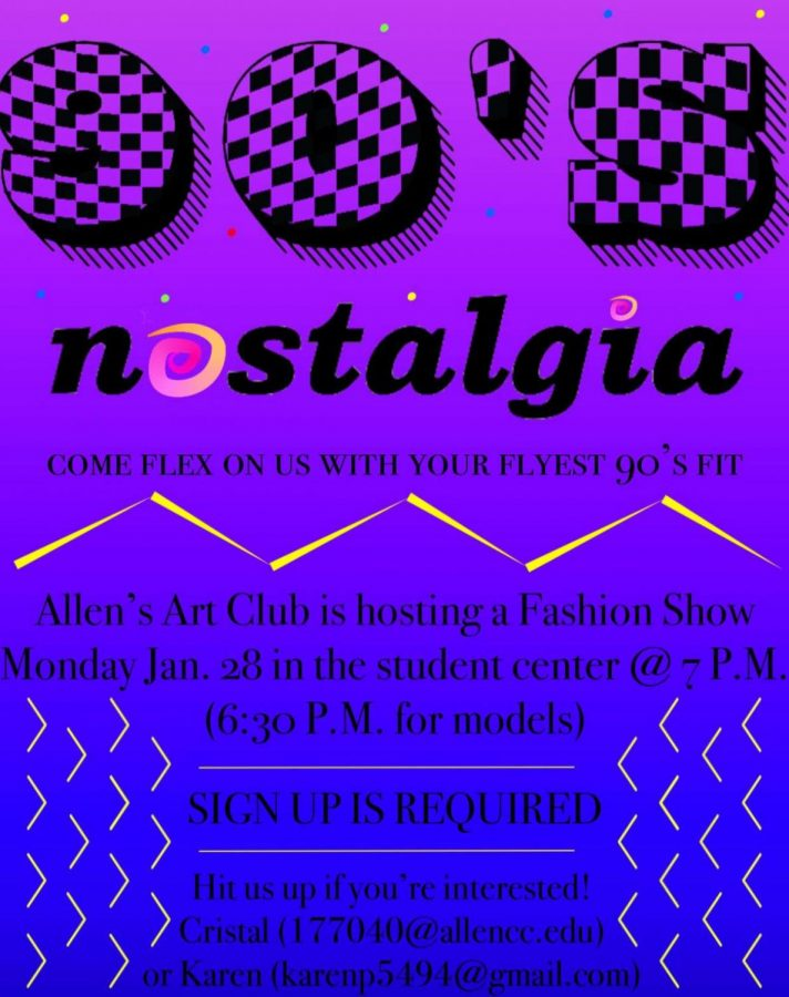 The newly formed Art Club at Allen Community College is hosting a fashion show tonight, spearheaded by Sophomores Cristal Macias and Karen Perez.