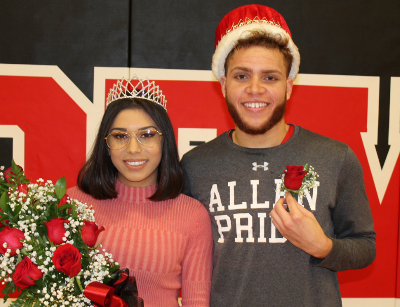 Allen Community College Sophomores Amber Gloria and Perry Carroll were crowned 2019 Homecoming Royalty at the men's basketball game Feb. 11.