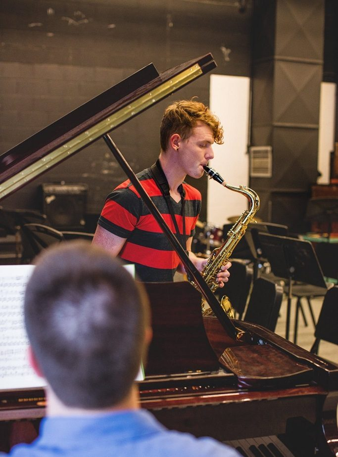 Allen Sophomore Virgil Wight competed against students from universities across the state and will represent the college at the Kansas Intercollegiate Band this weekend in Wichita.