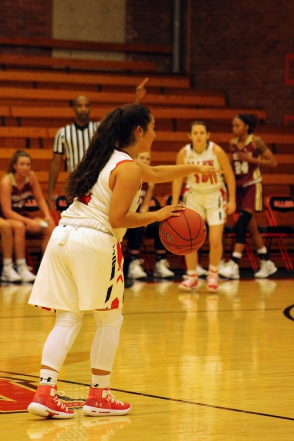 Freshman Gabby Guzman, a member of the women's basketball team at Allen Community College had to learn how to manage her time as an involved student athlete.