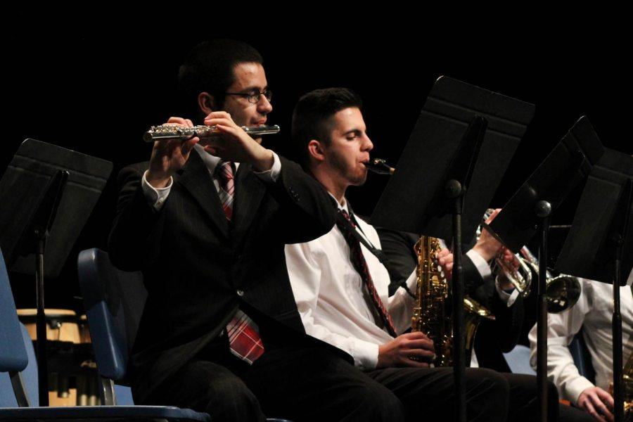 Paul Borcherding and Austin Ferguson performed in the Allen Jazz Band at the concert.