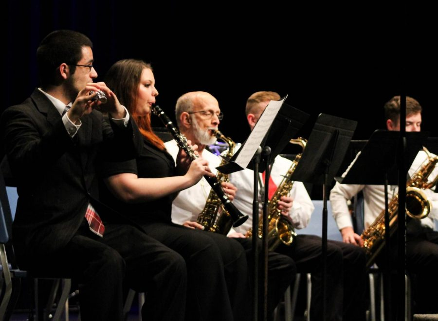 The Allen Concert Band was among one of the first ensembles to perform.