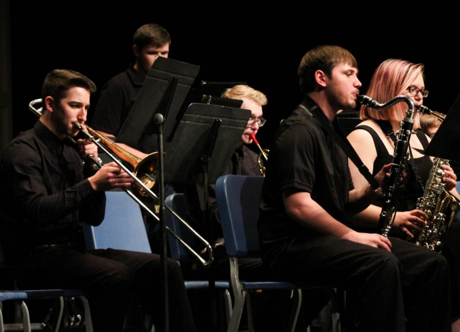 The Fort Scott Community College Band performed four selections during the combined concert.