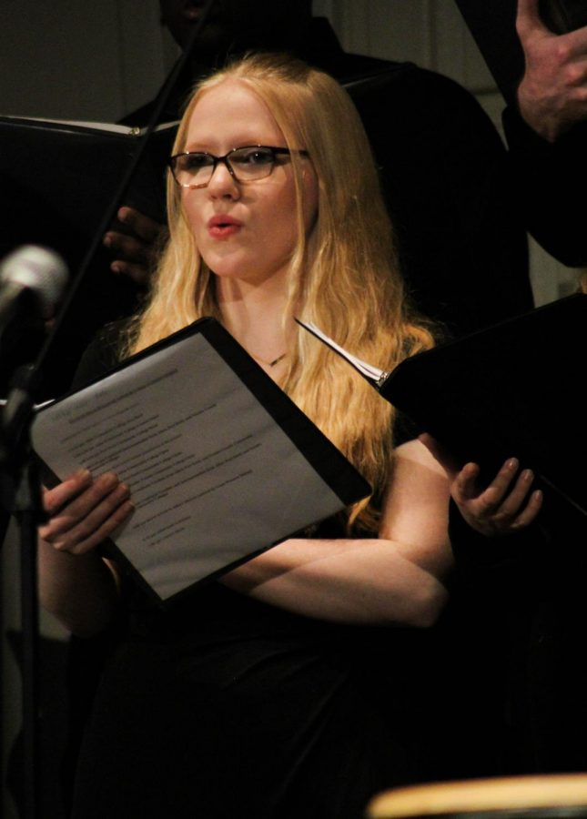 Freshman Carolyn Appleton was also a featured soloist during the Allen Choir's performance.
