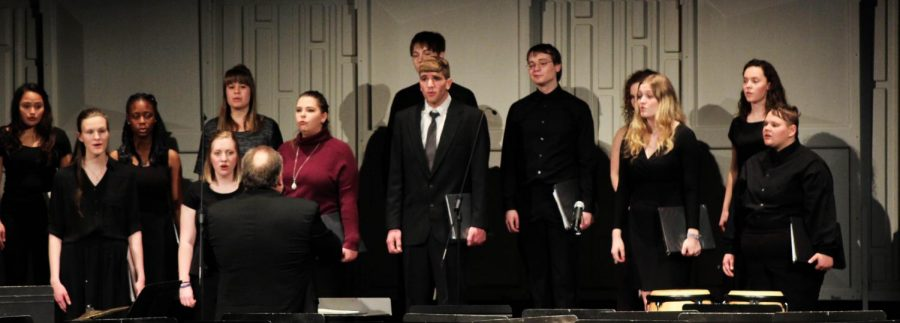 The Neosho County Community College Choir was the last individual ensemble of the night.
