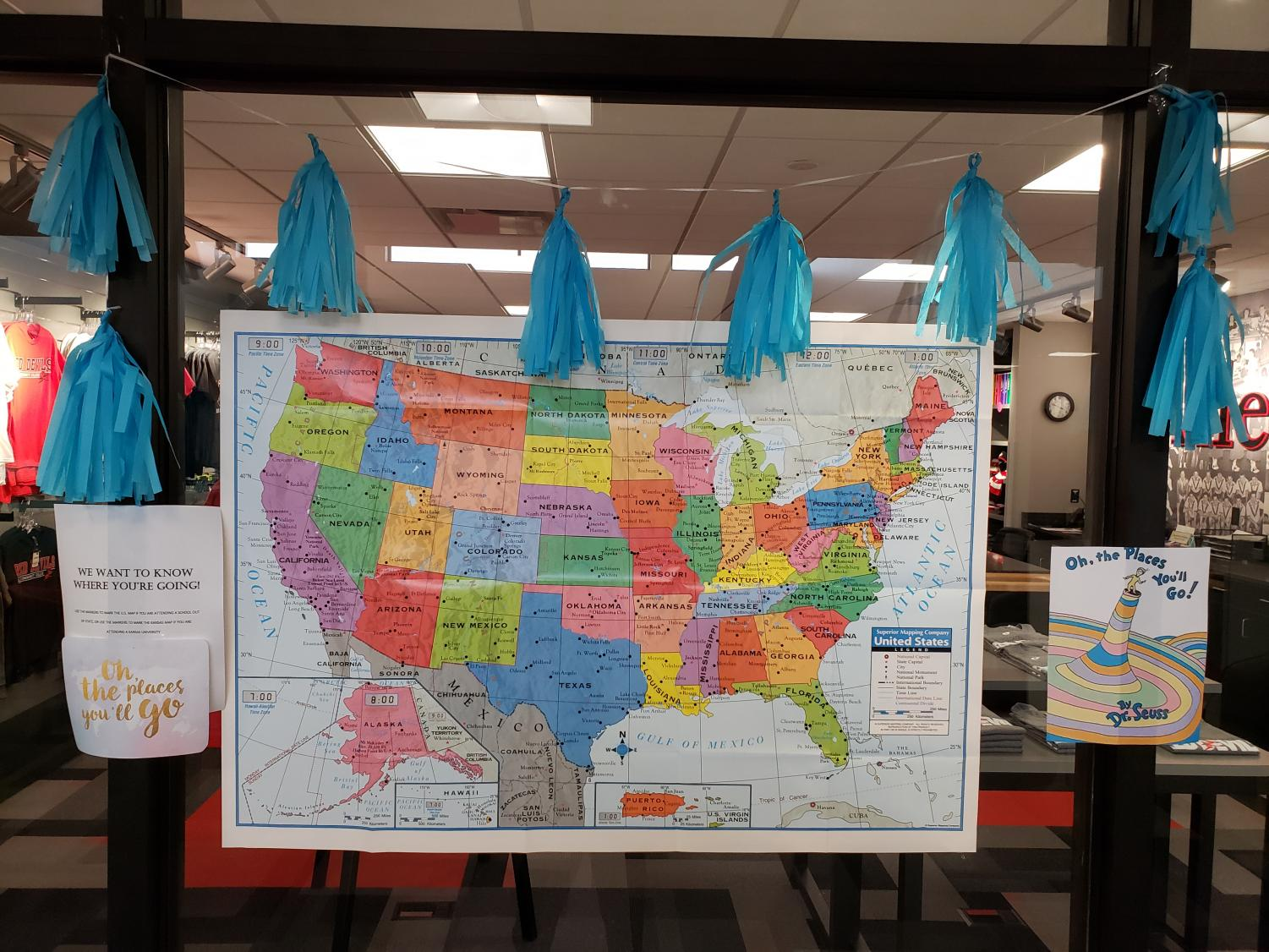 During+the+event%2C+sophomores+were+encouraged+to+plot+on+the+map+where+they+will+be+next+fall%21+