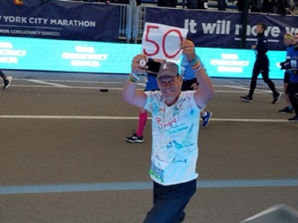 Steve Sodergren, a math instructor at Allen's Burlingame campus, ran the New York City Marathon last month, completing a personal goal of 50 marathons in 50 states.