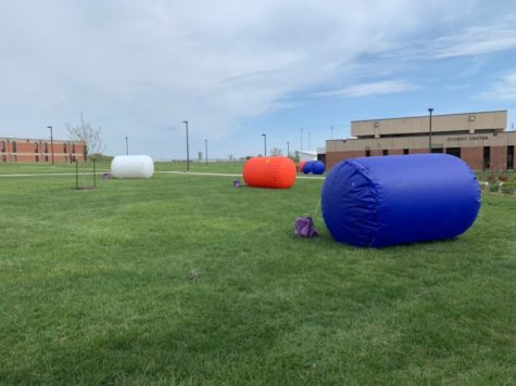 Students at the Iola campus got to enjoy one of the last events of the spring semester on the west lawn of the student activities center.
